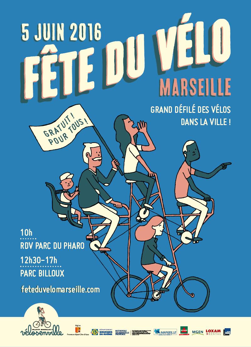 FÊTE DU VELO MARSEILLAISE, Dimanche 5 Juin 2016
