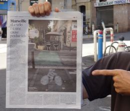 photo article libération vélo Marseille
