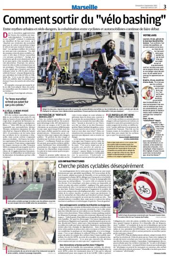 Collectif Vélos en Ville bicyclette La Provence Marseille