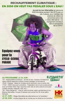 Collectif Vélos en Ville Marseille Alternatiba'ïoli 24 juin 2015 cyclo scuba parade